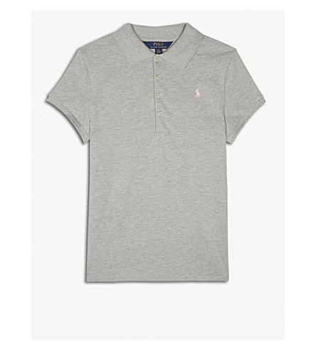 RALPH LAUREN Logo cotton polo shirt 6-14 years (Heather