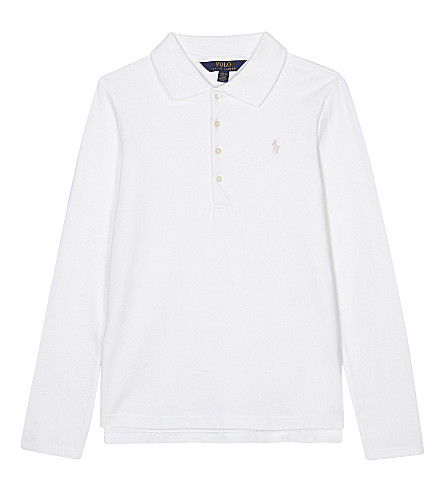 RALPH LAUREN Long-sleeved polo shirt 6-14 years (White