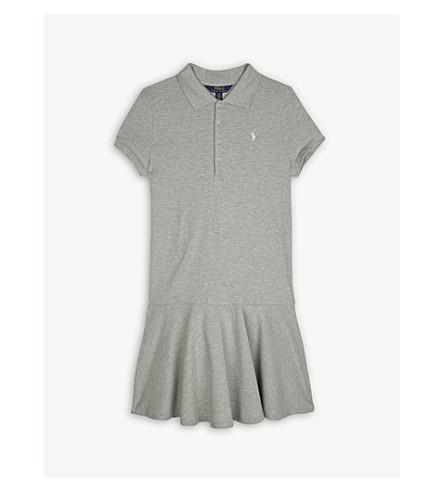 RALPH LAUREN Pony cotton-blend dress S-XL (Heather