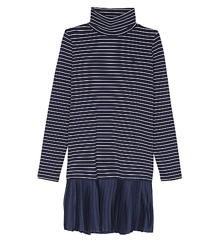 RALPH LAUREN Striped turtleneck dress S-XL (Newport+navy/ne