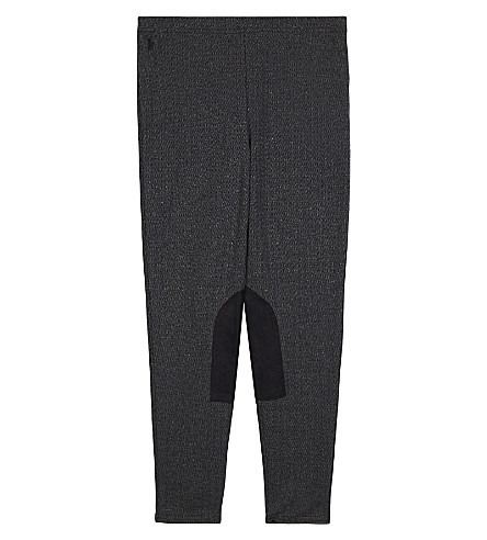 RALPH LAUREN Herringbone elasticated leggings 7-14 years (Light+grey+heat