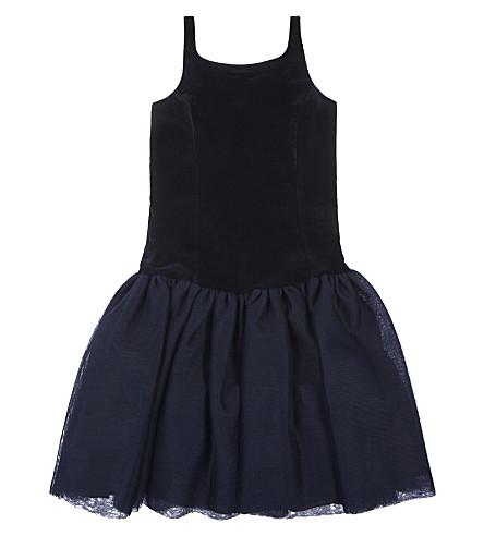 RALPH LAUREN Velvet dress 3-12 years (Navy