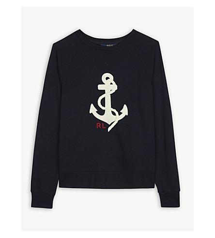 RALPH LAUREN Anchor cotton-blend jumper 7-14 years (Navy