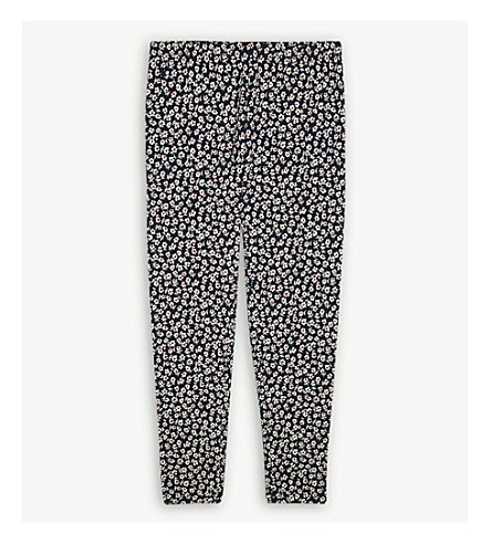 RALPH LAUREN Floral print cotton-blend leggings 7-14 years (Navyred