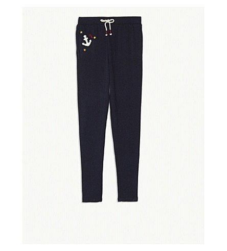RALPH LAUREN Anchor logo Terry cotton jogging bottoms 7-11 years (Navy