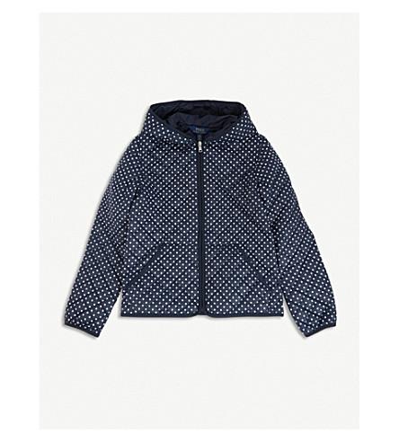 RALPH LAUREN Polka dot-print shell jacket (Navy/white