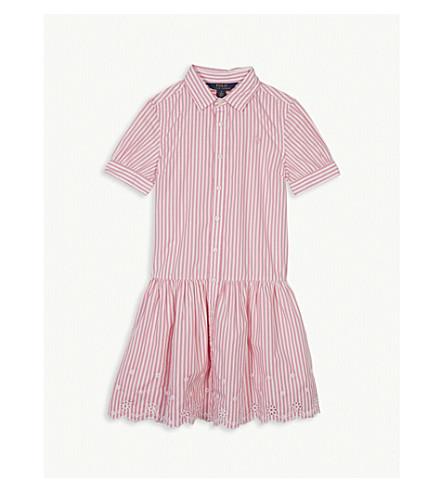 RALPH LAUREN Stripe cotton shirt dress 7-16 years (Pink/white