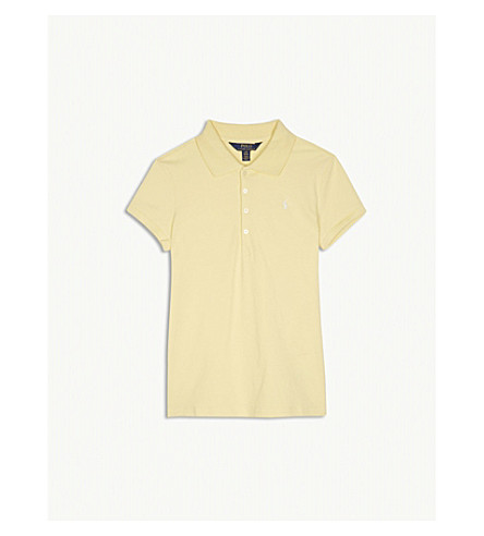 RALPH LAUREN Embroidered logo polo shirt 6-14 years (Yellow