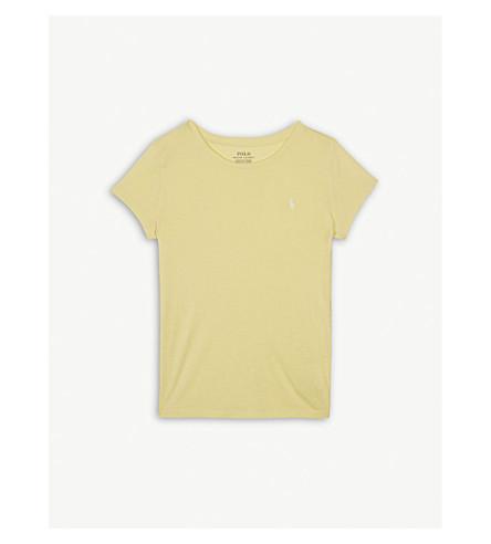 RALPH LAUREN Logo crew cotton-blend T-shirt (Yellow
