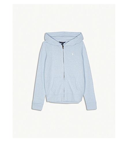 RALPH LAUREN Logo zip-up cotton-blend hoody S-XL (Elite+blue