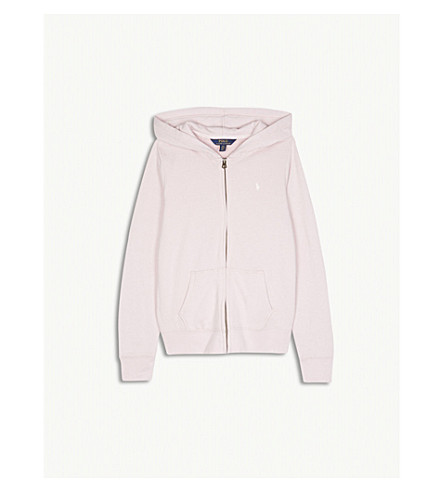 RALPH LAUREN Logo zip-up cotton-blend hoody S-XL (Hint+of+pink