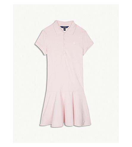RALPH LAUREN Pony cotton-blend dress S-XL (Hint+of+pink