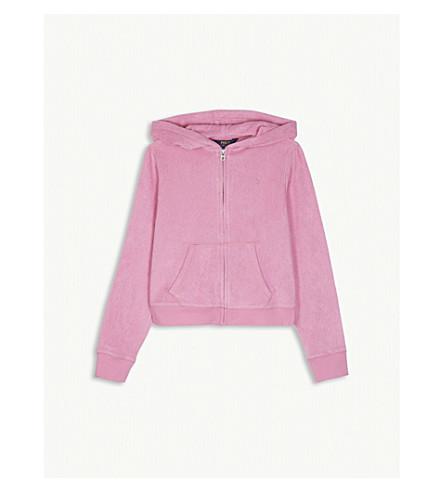RALPH LAUREN Cotton towel hoody S-XL (Hammond+pink