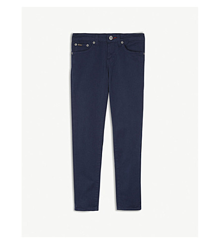 RALPH LAUREN Tompkins skinny cotton-blend pants 7-10 years (Navy