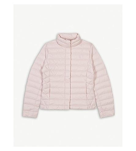 RALPH LAUREN Logo quilted jacket 7-14 years (Hint+of+pink