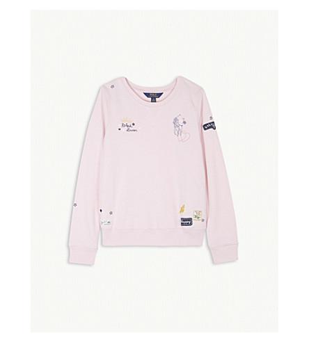 RALPH LAUREN Graphic cotton-blend jumper S-XL (Hint+of+pink