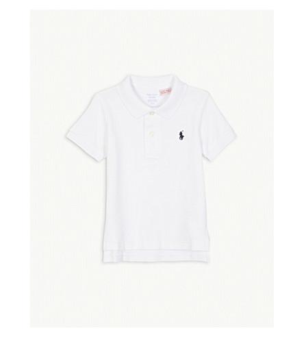 RALPH LAUREN Logo cotton polo 3-24 months (White