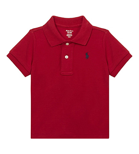 RALPH LAUREN Pony cotton polo shirt 3-24 months (New+red