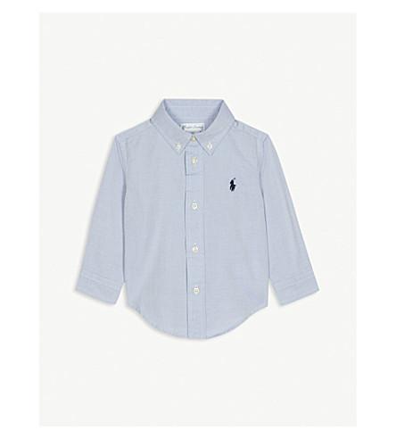 RALPH LAUREN Blake long-sleeve cotton shirt 9-24 months (Bsr+blue