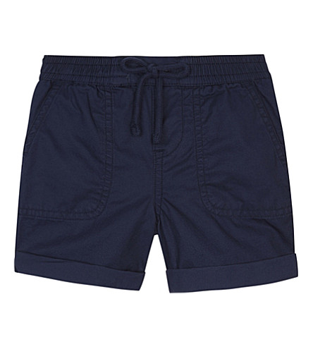 RALPH LAUREN Turn-up cotton shorts 3-24 months (Fresco+blue