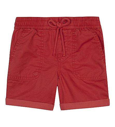 RALPH LAUREN Turn-up cotton shorts 3-24 months (Sunrise red