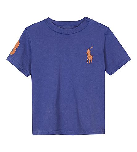 RALPH LAUREN Big Pony cotton T-shirt 3-24 months (Deckhand+blue