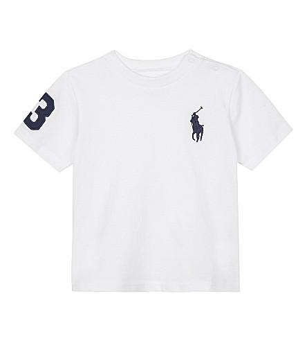 RALPH LAUREN Big Pony cotton T-shirt 3-24 months (White