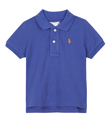 RALPH LAUREN Solid cotton polo shirt 3-24 months (Deckhand+blue