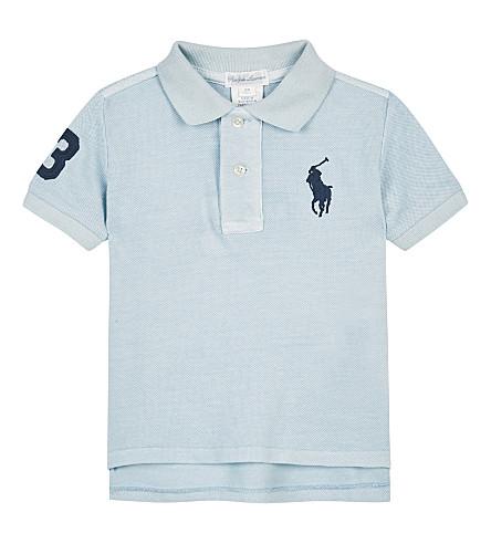 RALPH LAUREN Big Pony cotton polo shirt 3-24 months (Coastal+blue