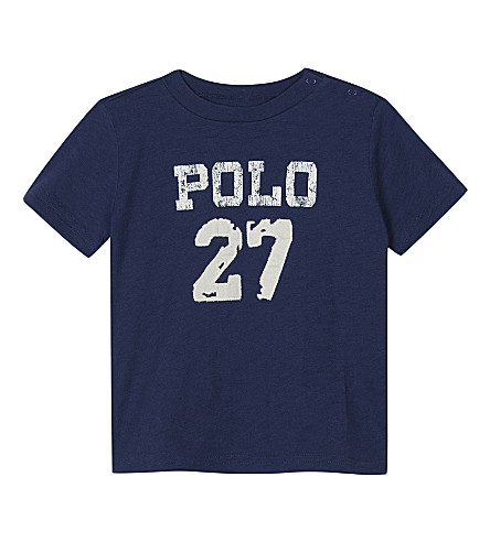 RALPH LAUREN Polo 27 cotton T-shirt 3-24 months (Fresco+blue