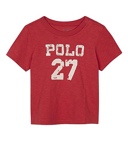 RALPH LAUREN Polo 27 cotton T-shirt 3-24 months (Sunrise+red