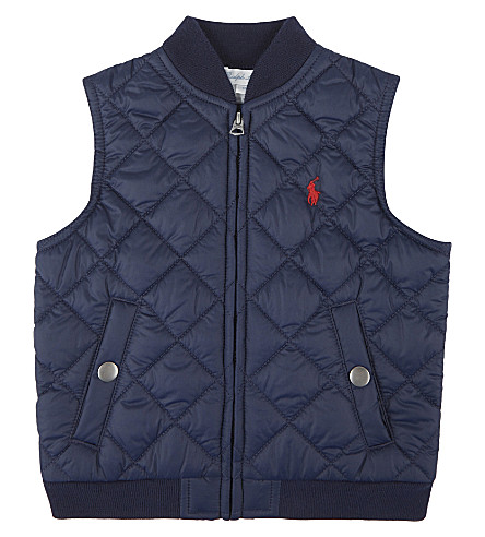 RALPH LAUREN Sleeveless gilet 9-24 months (French+navy