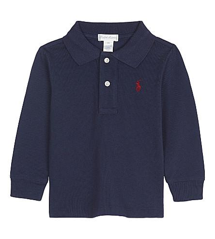 RALPH LAUREN Logo cotton polo shirt (Newport+navy