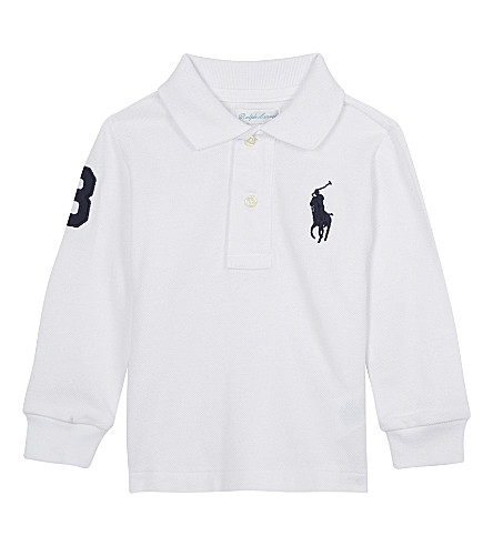 RALPH LAUREN Long-sleeved polo top 3-24 months (White