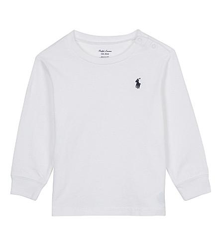 RALPH LAUREN Long-sleeved cotton top 3-24 months (White