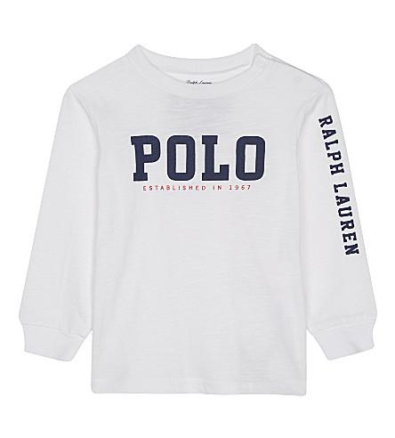 RALPH LAUREN Graphic cotton t-shirt 6-24 months (White