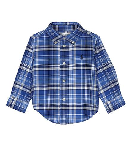 RALPH LAUREN Checked cotton shirt 9-24 months (White+multi