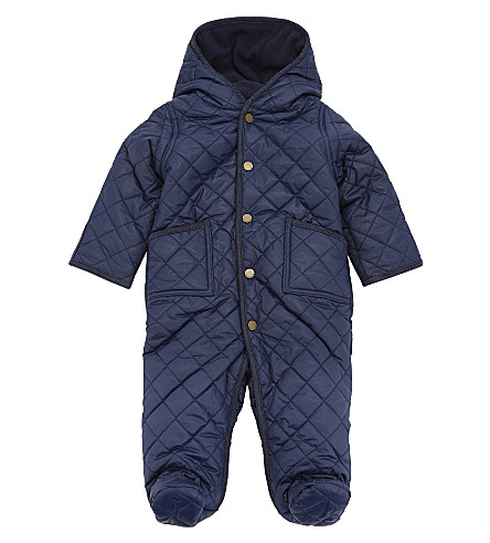 RALPH LAUREN Quilted bodysuit 3-9 months (French+navy