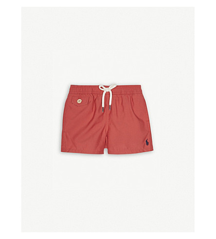 RALPH LAUREN Logo swimming shorts 9-24 months (Adirondack+berry
