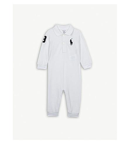 RALPH LAUREN Cotton polo-style bodysuit 3-12 months (White
