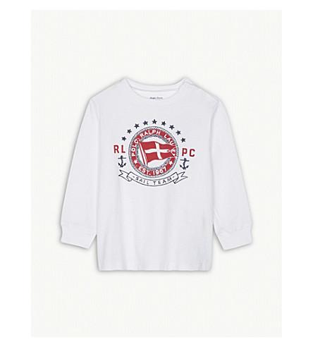 RALPH LAUREN 'Sail Team' print cotton long-sleeved top 3-24 months (White