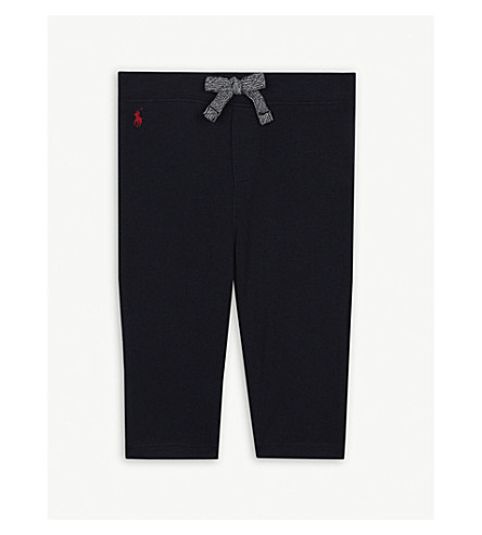 RALPH LAUREN Cotton-blend logo jogging bottoms 3-24 months (Hunter+navy