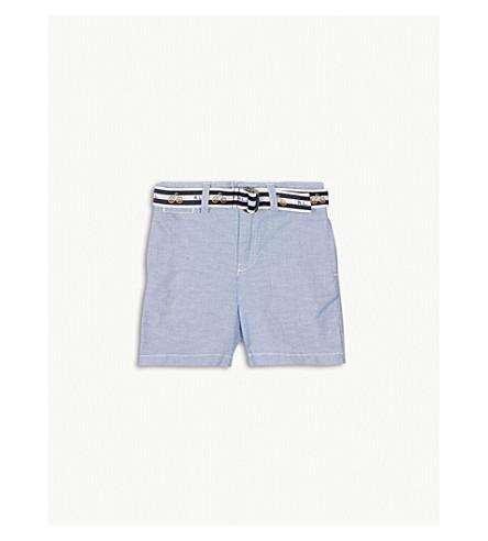 RALPH LAUREN Slim-fit belted cotton chino shorts 3-24 months (Bsr+blue