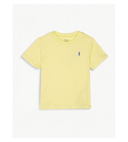 RALPH LAUREN Embroidered brand logo cotton T-shirt (Beekman+yellow