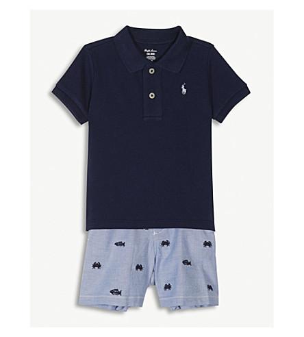 RALPH LAUREN Polo shirt and shorts set 3-24 months (Newport+navy