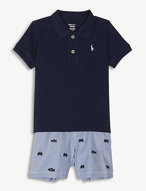 Baby gifts first toys nursery kids selfridges ralph lauren polo shirt and shorts set 3 24 months negle Gallery