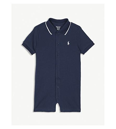 RALPH LAUREN Polo cotton bodysuit 3-24 months (Summer+navy
