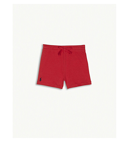 RALPH LAUREN Polo cotton shorts 3-24 months (Red+flag