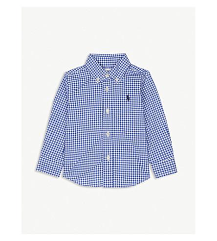 RALPH LAUREN Gingham check cotton shirt 6-24 months (Blue+multi