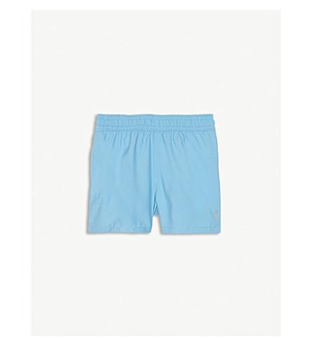 RALPH LAUREN Hawaiian-patch swim shorts (Margie+blue